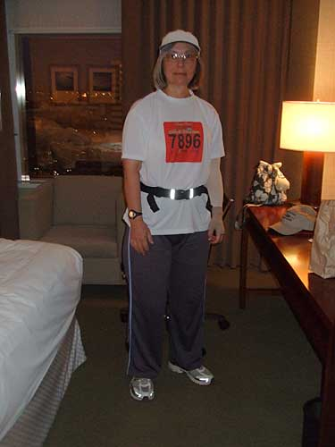 me in my hotel room, ready for the race