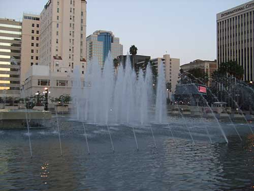 fountains at the convention center